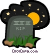 Vector Clipart graphic  of a tombstone