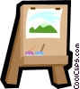 Vector Clipart picture  of a easel
