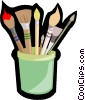 paint brushes Vector Clipart graphic