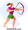 Vector Clipart graphic  of an archer