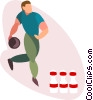 Bowler bowling ball Vector Clipart illustration