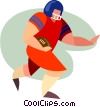 Vector Clip Art picture  of a football player