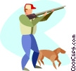 Vector Clipart picture  of a hunting