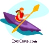 kayaking Vector Clipart graphic