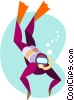 Vector Clipart picture  of a scuba diver