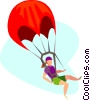 parachuting Vector Clip Art image
