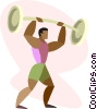 Vector Clip Art image  of a weight lifting
