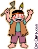 Vector Clipart image  of a cartoon Indian