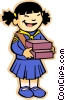 Vector Clipart graphic  of a girl guides