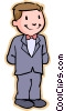 Vector Clip Art image  of a little boy in a suit