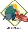 Vector Clipart image  of a construction worker