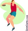 throwing a discus Vector Clip Art picture
