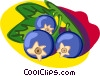 blueberries Vector Clip Art graphic