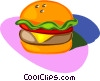 Vector Clipart image  of a hamburger