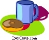 Vector Clipart graphic  of a coffee