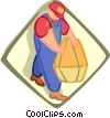 Vector Clip Art graphic  of a farmer