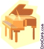 Vector Clipart graphic  of a piano