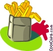 Vector Clip Art image  of a French fries