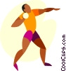 Vector Clipart picture  of a shot putter