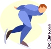 Vector Clipart picture  of a speed skater