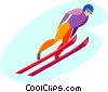 ski jumping Vector Clipart illustration