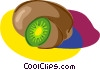 Vector Clipart graphic  of an avocado
