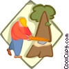 Vector Clip Art picture  of a lumberjack
