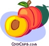 peach Vector Clipart picture