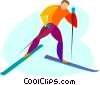 cross country skiing Vector Clipart image