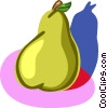 Vector Clipart picture  of a pear