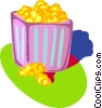 popcorn Vector Clipart graphic