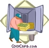 Vector Clipart image  of a delivery