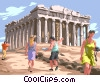 Vector Clip Art picture  of a Parthenon in Rome