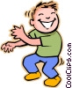 boy dancing Vector Clipart picture