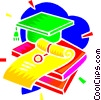 Vector Clipart picture  of a diploma