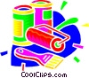 Vector Clipart illustration  of an art production supplies