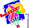 Vector Clip Art image  of an airplanes