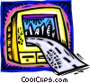 Vector Clipart illustration  of a information superhighway