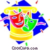Vector Clip Art graphic  of a theatre