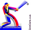 Vector Clipart graphic  of a baseball
