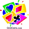 playing cards. hearts, diamonds, clubs, spades Vector Clipart illustration