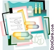 medical prescriptions Vector Clip Art picture