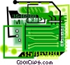 Vector Clip Art image  of a computer circuit board