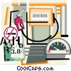 petroleum industry, fuel, gasoline Vector Clipart picture