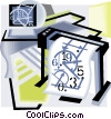 Vector Clipart graphic  of a computer aided design