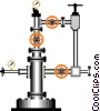 wellhead, structure built over a well Vector Clipart picture