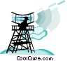 Vector Clipart illustration  of a radar antenna