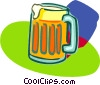 full frosty beer mug Vector Clipart illustration