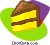 cake with chocolate on outside Vector Clipart illustration