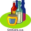 Vector Clipart illustration  of a ketchup, vinegar, mustard